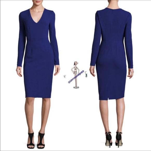 Diane Von Furstenberg Dresses & Skirts - DVF Klein Blue Sheath Dress